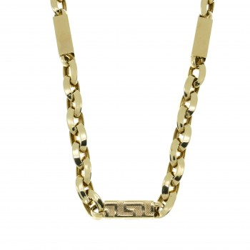 Мужская цепочка, желтое золото 14 карат, длина 55 см