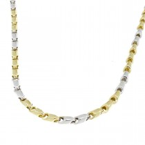 Gold chain for men, yellow and white gold, weight 11.25 grams