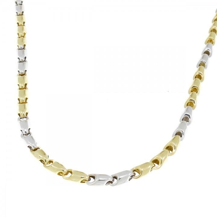 Золотая цепочка мужская, желтое и белое золото, вес 11,25 грамма