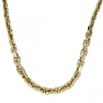 Gold chain for men, yellow and white gold, weight 33.89 grams