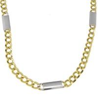 Золотая цепочка мужская, желтое и белое золото, вес 16,41 грамма