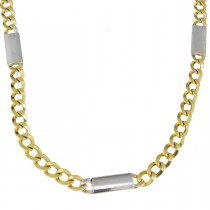 Gold chain for men, yellow and white gold, weight 16.41 grams