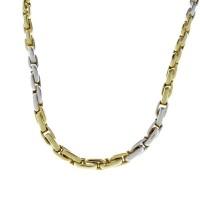 Золотая цепочка мужская, желтое и белое золото, вес 23,7 грамма