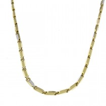 Gold chain for men, yellow and white gold, weight 16 grams
