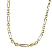 Золотая цепочка мужская, желтое и белое золото, вес 19,63 грамма