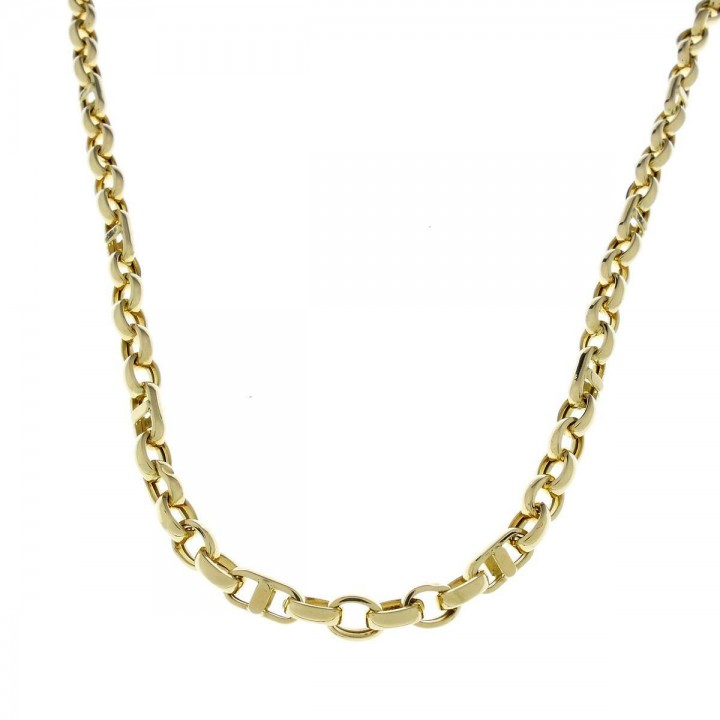 Золотая цепочка мужская, желтое золото, вес 19,05 грамма