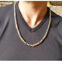 Золотая цепочка, белое и жёлтое золото, 60 см