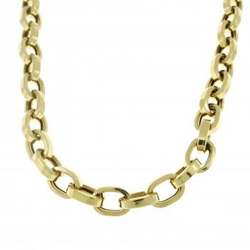 Золотая цепочка мужская, желтое золото 14 карат, длина 64 см