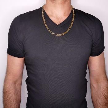 Золотая цепочка мужская, желтое золото 14 карат, длина 60 см