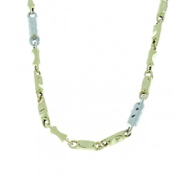 Chain for a man, 14K yellow and white gold, length 50