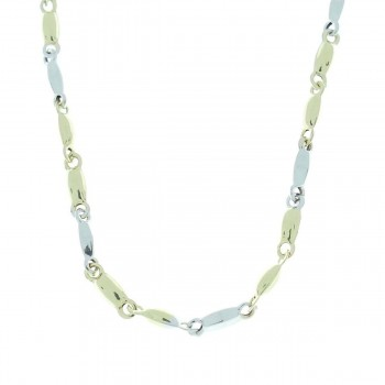 Chain for a man, 14K yellow and white gold, length 55