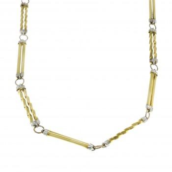 Золотая цепочка мужская, желтое золото 14 карат, длина 62 см