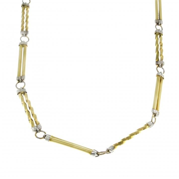 Мужская цепочка, желтое золото 14 карат, длина 62 см
