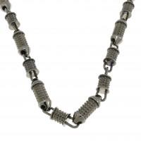 Мужская цепочка, белое золото 14 карат, длина 58 см
