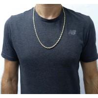 Золотая цепочка мужская, желтое и белое золото, вес 16 грамма