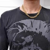 Золотая цепочка мужская, желтое золото 14 карат, длина 100 см