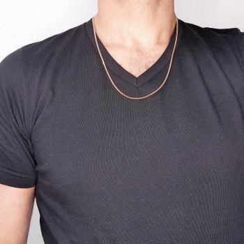 Chain for men, red gold, length 58 cm