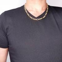 Золотая цепочка мужская, желтое золото 14 карат, длина 54 см