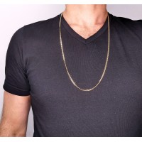 Золотая цепочка мужская, желтое золото 14 карат, длина 65 см