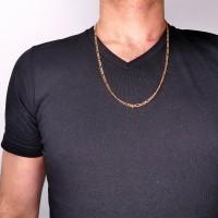 Цепочка для мужчины, красное золото, длина 64 см