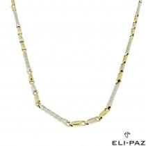 Золотая цепочка мужская, желтое и белое золото, вес 15,73 грамма