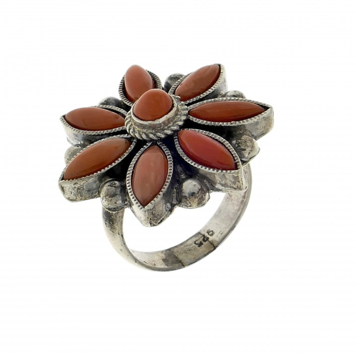 Ring for women - flower, 925 sterling silver