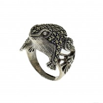 Ring for a woman - frog, 925 sterling silver