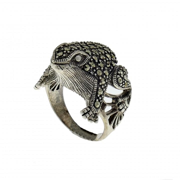 טבעת לאישה - צפרדע, כסף סטרלינג 925
