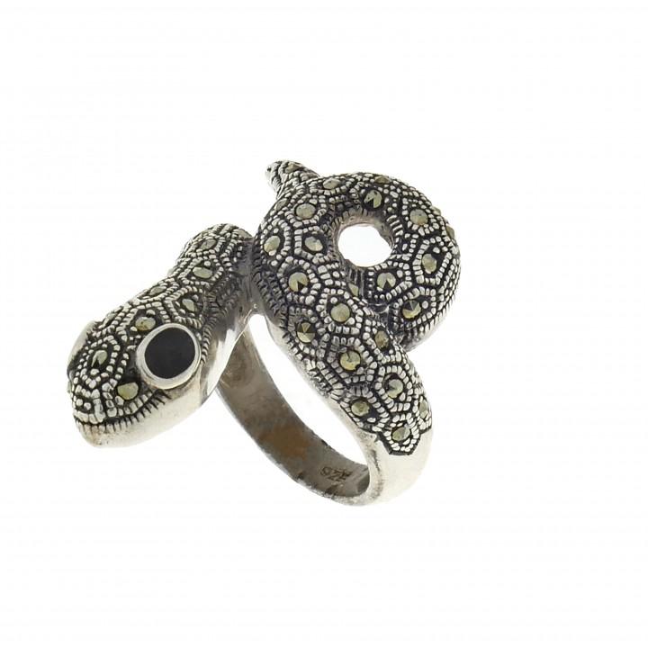 Кольцо для женщины - змея, серебро 925 проба