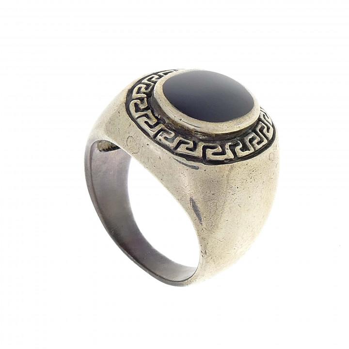 Мужской перстень из серебра, греческий стиль