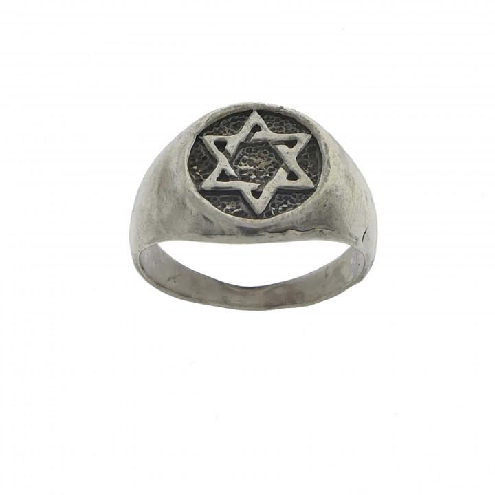 Мужской перстень из серебра Маген Давид