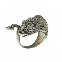 Ring for a woman - a fish, 925 sterling silver