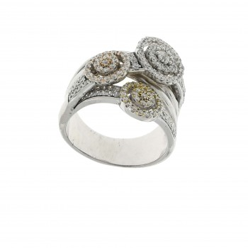 Ring for a woman, 925 sterling silver, cubic zirconia