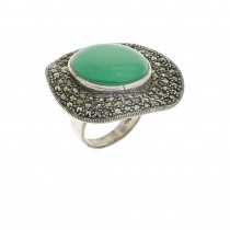 Ring for a woman, silver 925, chrysolite
