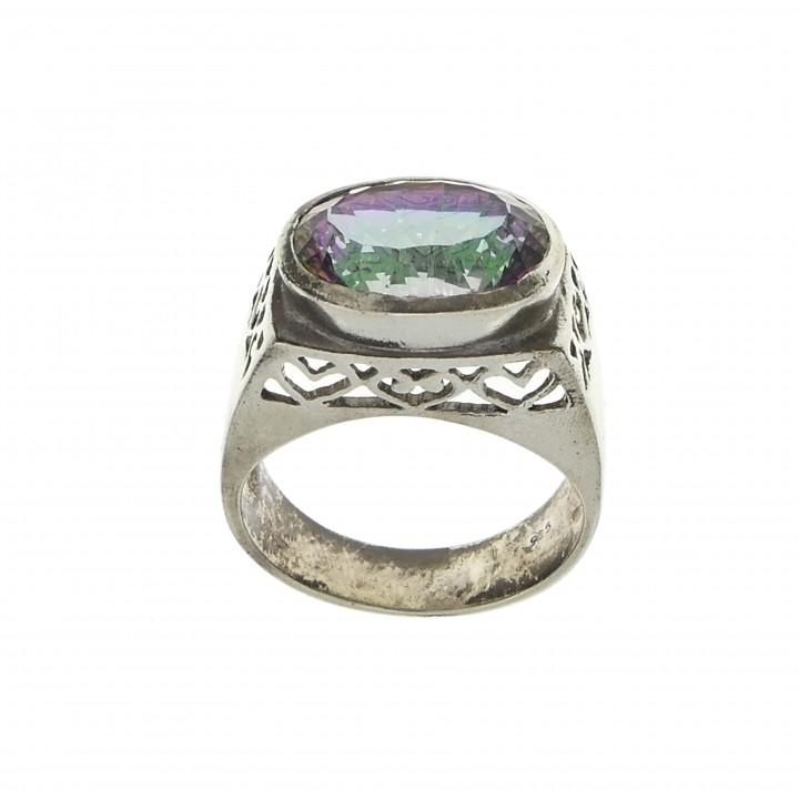 Кольцо для женщины, серебро 925 проба, лунный топаз