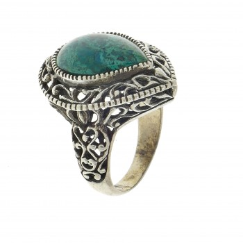 Ring for a woman, 925 sterling silver, Eilat stone