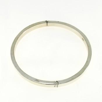 Браслет для женщины, серебро 925 проба, диаметр 6 см
