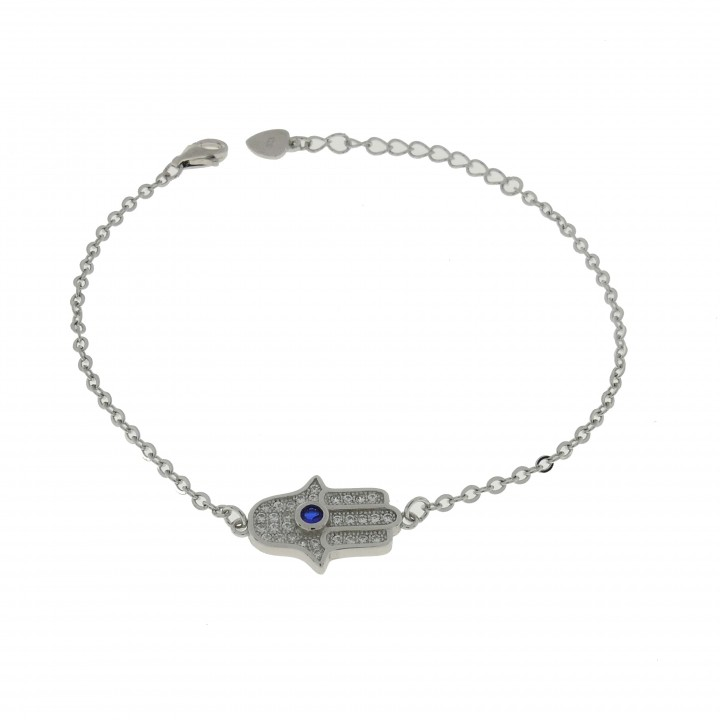 Bracelet for woman - Hamsa, 925 sterling silver, length 21 cm