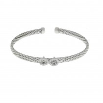 Bracelet for a woman, 925 sterling silver, diameter 6 cm