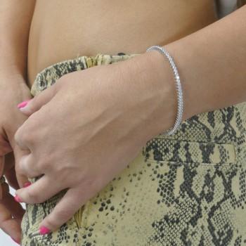 Браслет для женщины - теннисный, серебро 925 проба, диаметр 6 см
