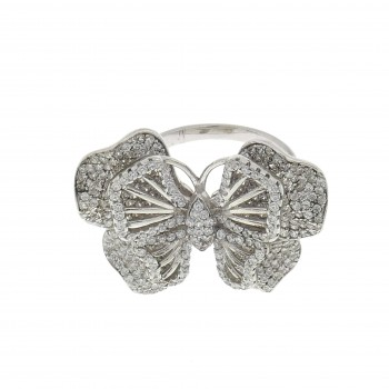 Ring for women - butterfly, 925 sterling silver