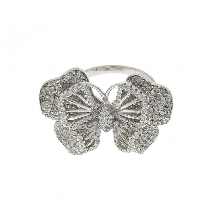 Кольцо для женщины - бабочка, серебро 925 проба