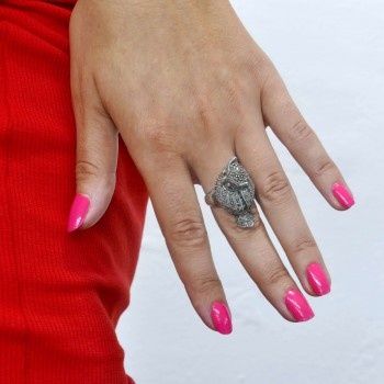 Ring for a woman - an owl, 925 sterling silver