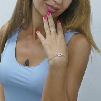 Bracelet for woman - Hamsa, 925 sterling silver, length 21 cm