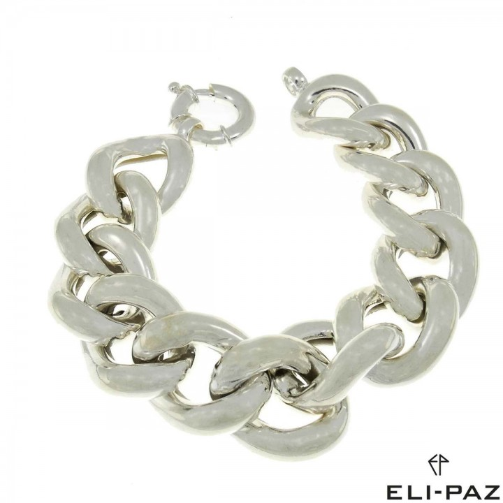 Bracelet for a woman, 925 sterling silver, length 24.5 cm