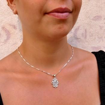 Кулон, серебро 925 проба, Хамса