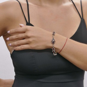 Bracelet for a woman, 925 sterling silver, length 19 cm