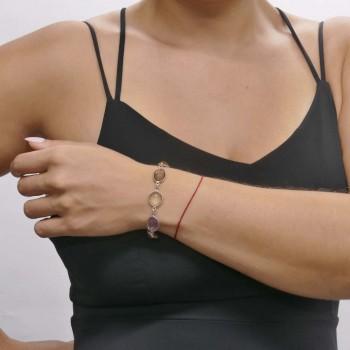 Браслет для женщины, серебро 925 проба, длина 19.5 см