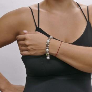 Браслет для женщины, серебро 925 проба, длина 19 см
