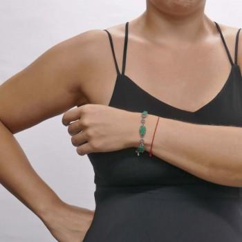 Браслет для женщины, серебро 925 проба, длина 20.5 см